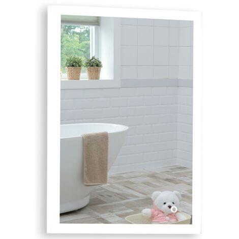 Rectagular Bathroom Mirror 70cm x 50cm Illuminated