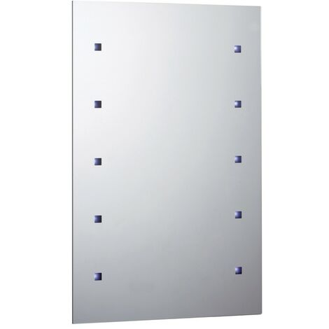Rectangular 10 Light Battery Operated LED Mirror 300mm x 450mm