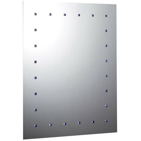 Rectangular 24 Light Battery Operated LED Mirror 500mm x 650mm