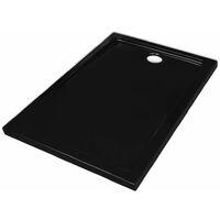 Rectangular ABS Shower Base Tray Black 70 x 100 cm