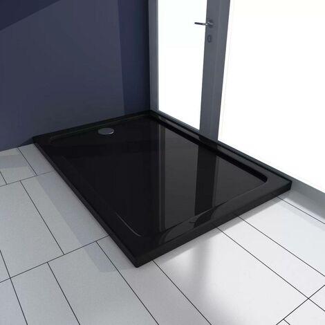 Rectangular ABS Shower Base Tray Black 70 x 100 cm VD03983