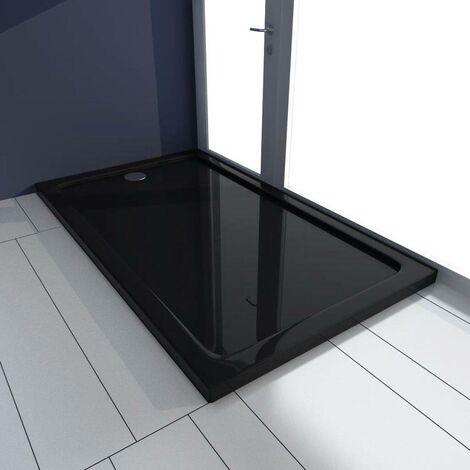 Rectangular ABS Shower Base Tray Black 70 x 120 cm VD03984