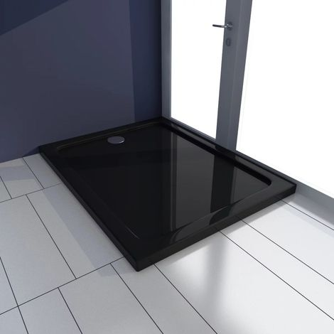 Rectangular ABS Shower Base Tray Black 70 x 90 cm VD03982