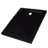 Rectangular ABS Shower Base Tray Black 80 x 100 cm