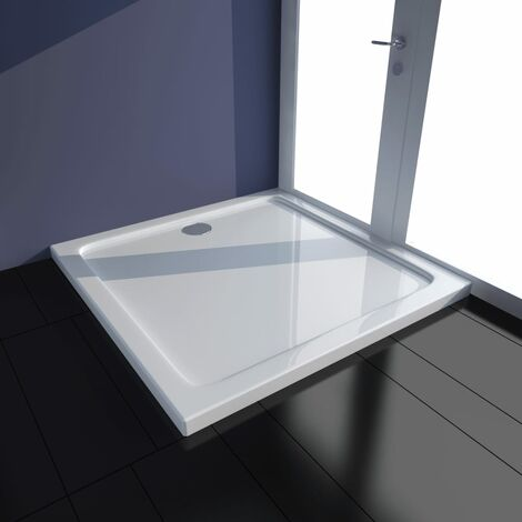 Rectangular ABS Shower Base Tray White 70 x 100 cm