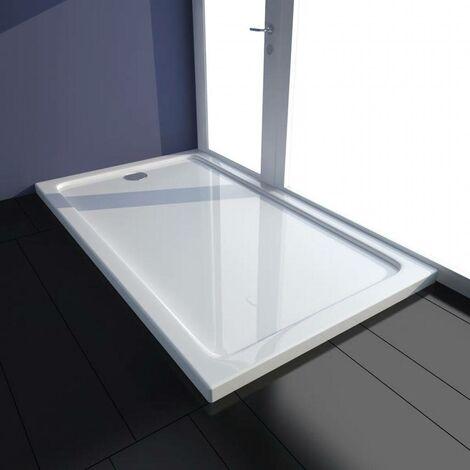 Rectangular ABS Shower Base Tray White 70 x 120 cm VD03978
