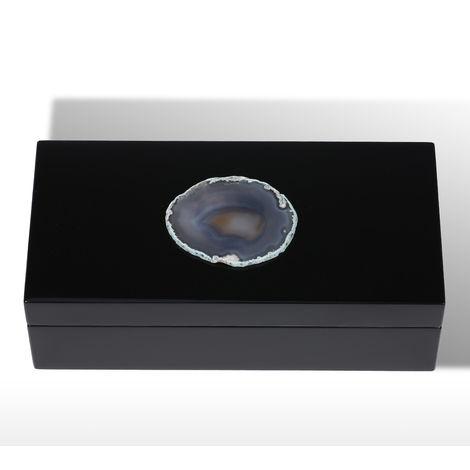 Rectangular Agate Jewelry Box in Primitive Color Storage Box