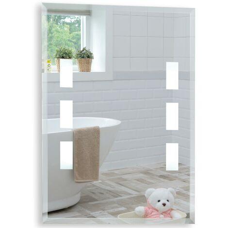 Rectangular Bathroom Mirror 60 x 45cm Illuminated