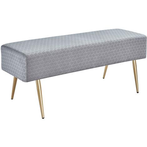 "main image of ""Rectangular footstool modern interior bed end stool bedroom living room multifunctional velvet bench Gray - Gray"""