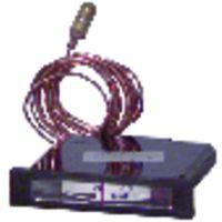 RECTANGULAR, HORIZONTAL DIAL THERMOMETER - 20° to +120°C - l 68mm x h 15mm cap 1500