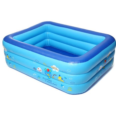 Rectangular inflatable pool for children 1.8m