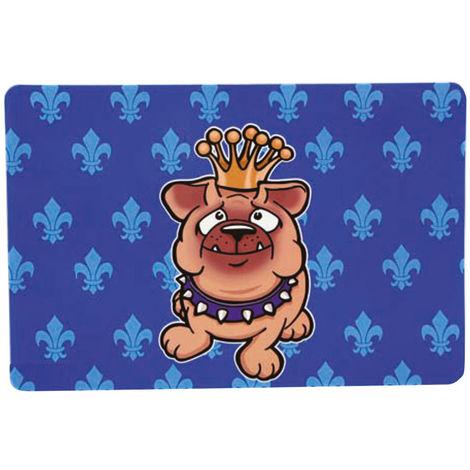 Rectangular mat for bowls with royal Bull-dog