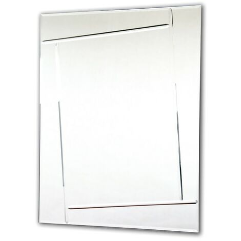 Rectangular Mirror with Crystal Cut Design 600mm x 800mm