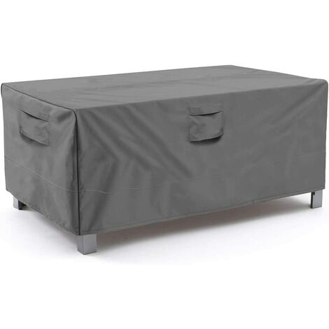 """main image of """"Rectangular/oval patio table cover, heavy-duty waterproof outdoor lawn patio furniture cover, large beige and brown c"""""""