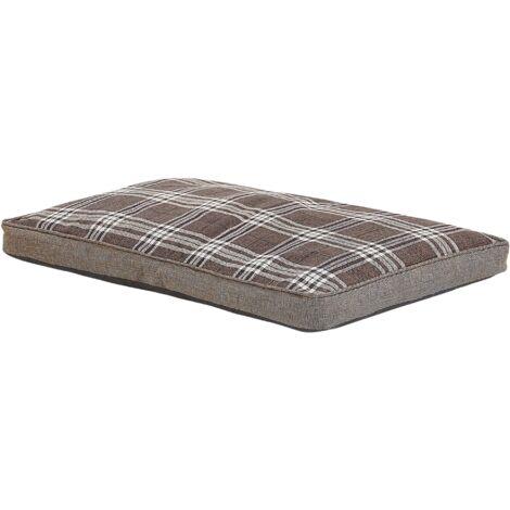 Rectangular Pet Bed Dog Bed Cat Bed Soft Animal Cot Brown Amarat