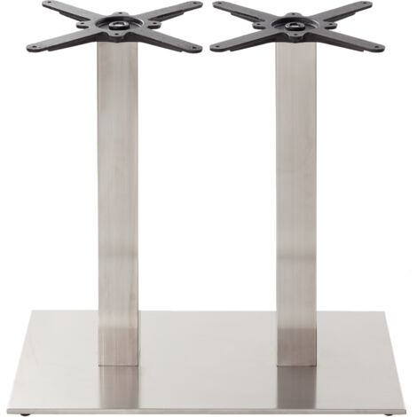 Rectangular s/steel table base - Twin - Dining height - 730 mm