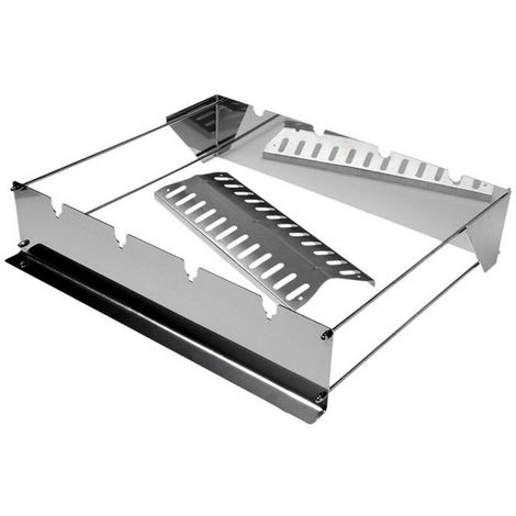 Rectangular Skewer Support with Flame Tamer for Gas BBQs