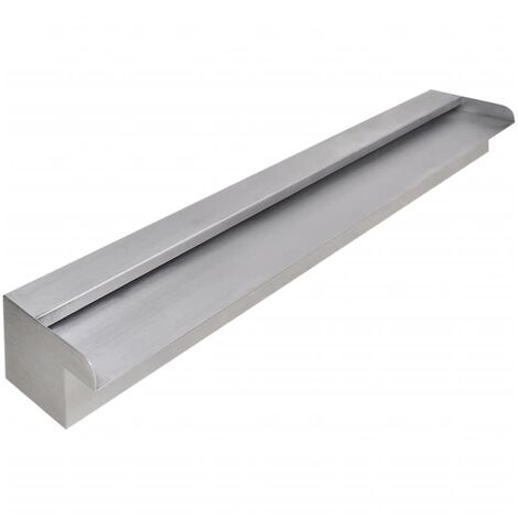 Rectangular Waterfall Pool Fountain Stainless Steel 90 cm