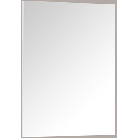 Rectangular Wooden Frame Wall Mounted Bathroom Mirror