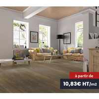 Recubrimiento del suelo flexible, entarimado para habitaciones de alta capacidad de tráfico peatonal - 2,42 m2 - Caja con 11 laminillas - tamaños de la laminilla: 122x18 cm, PVC, con un mecanismo de cerradura, imitación de la madera