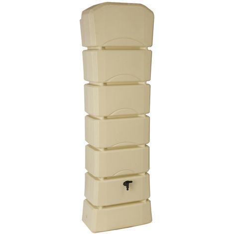Récupérateur d'eau de pluie Latitude 300 L beige + Kit raccord chéneau