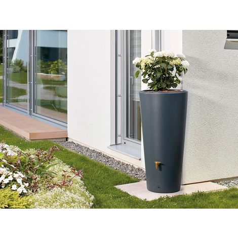 Récupérateur d'eau de pluie pot 2 en 1 220 L Gris Graphite