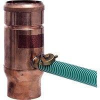 Récupérateur d´eau de pluie tuyau cuivre diam 76 mm