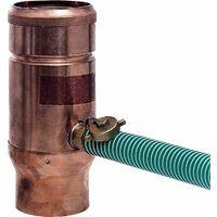 Récupérateur d´eau de pluie tuyau cuivre - diam 87 mm
