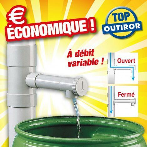 Récupérateur d'eau pour descente de gouttière - H17,5 x Ø8,5 cm