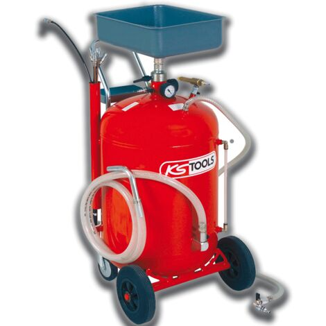 Récupérateur d'huile par gravité et aspiration 90 L + 160.0004 - KS TOOLS