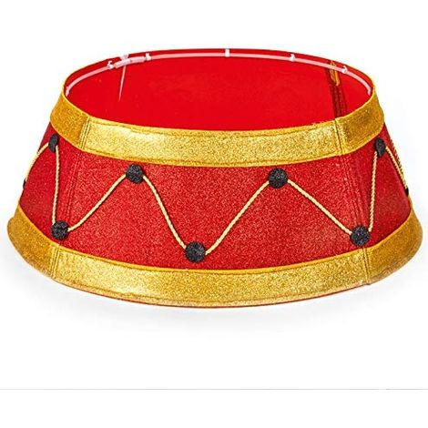 Red And Gold Christmas Tree Skirt Stand Cover 64cm