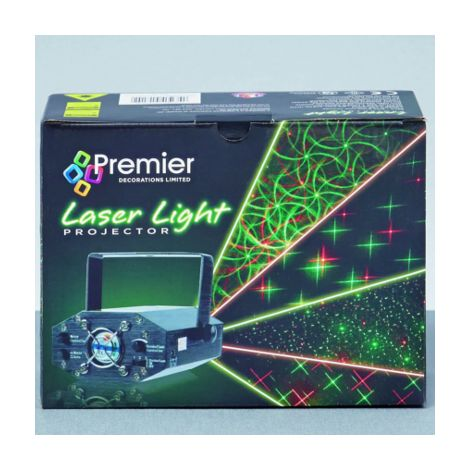 Red and Green Indoor Christmas Laser Light with 4 Light Designs