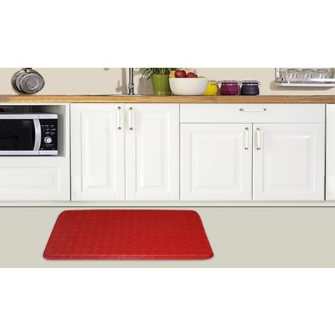 Red Anti Fatigue Mat 76x46x1.85cm - 2 Mats