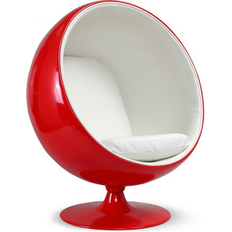 Red Ball Chair Eero Aarnio White