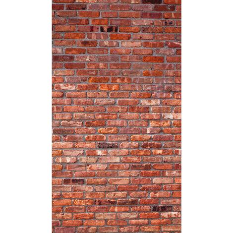 Red bricks, rideau imprimé mur de briques rouges 140x245 cm, 1 part