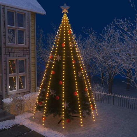 Red de luces para árbol de Navidad con 500 LEDs IP44 500 cm