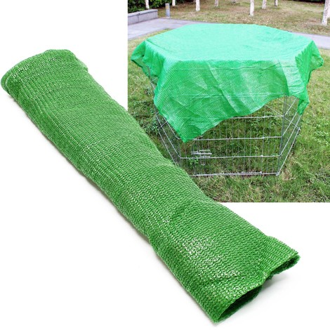 Red de protección para corralitos de mascotas de 6 piezas 142x142cm, malla para parque de cachorros