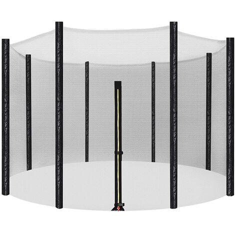 Red de Seguridad 244, 305, 366cm Reemplazo de la Red del Cama elástica para 6, 8 Postes Rectos, Recinto de Malla Redonda