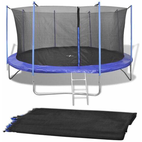 Red de seguridad para cama elastica redonda 3,96 m negra PE(no se puede enviar a Baleares)