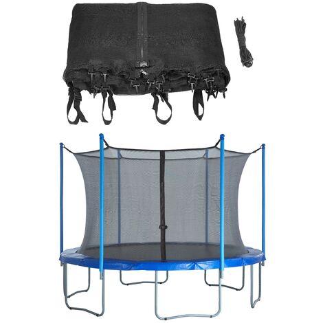 Red de Seguridad y Protección de Repuesto para Cama Elástica Trampolín Redondo de 396 cm con 8 Postes Rectos   Interno Borde