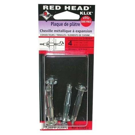 RED HEAD - Cheville métal pour plaque de plâtre - 6x59 mm