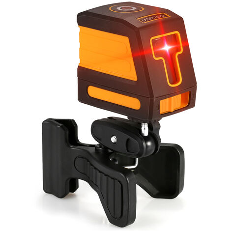 Red light 2-wire laser spirit level shipped without battery orange with stand
