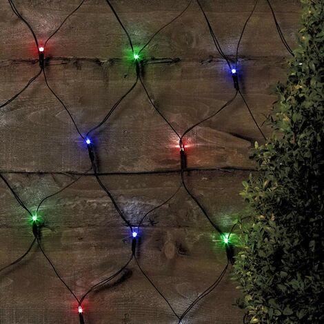 Red Luces de Navidad Exterior 50 LED Batería Larga Duración Placa Solar