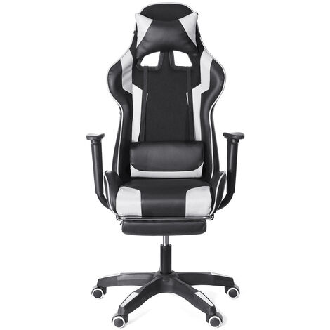 Red Office Chair Gaming Gaming Swivel Racing 150 ° Tilting