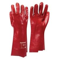 Red PVC Gauntlets - L 10