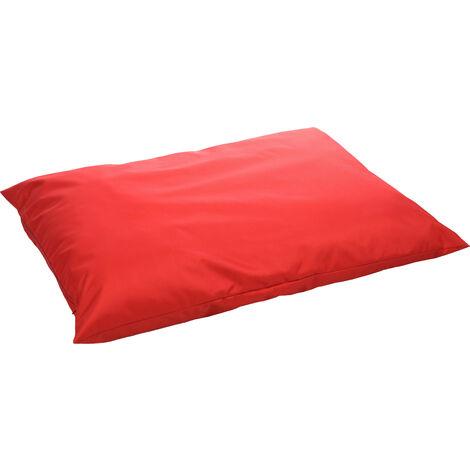 Red rectangular MOONBAY cushion. 100 x 70 cm. for dog