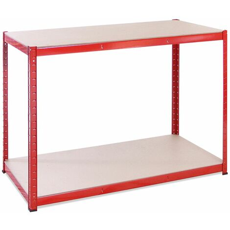 Red Storage Workbench 90 x 120 x 60cm, 300KG Per Shelf Capacity