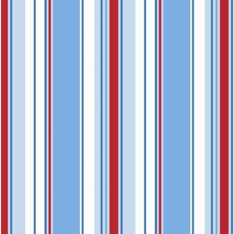 Red White Blue Stripe Wallpaper Bold Striped Stripey Kids Bedroom Holden