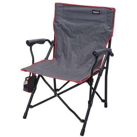 Redcliffs Chaise Pliante De Camping En Metal 89 X 59 55 Cm Noir Rouge