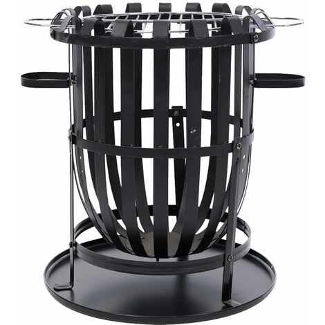 RedFire Fire Basket Dallas Black Steel